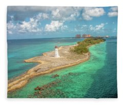 Paradise Island Lighthouse Fleece Blanket