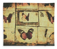 Parchment Post Carriers Fleece Blanket
