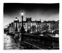 Paris At Night - Pont Neuf Fleece Blanket