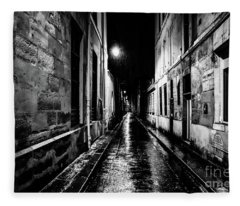 Paris At Night - Rue Visconti Fleece Blanket