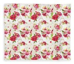 Paris Blossoms C Fleece Blanket