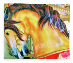 Paris Galloper   Fleece Blanket