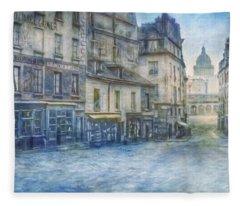 Paris, Rue Du Haut Pave 1866 Fleece Blanket