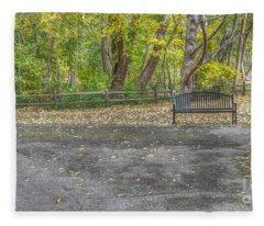Park Bench @ Sharon Woods Fleece Blanket