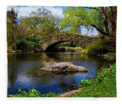 Park Bridge2 Fleece Blanket