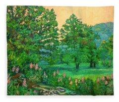 Park Road In Radford Fleece Blanket