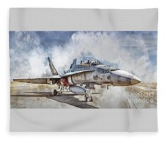 Parked Hornet Fleece Blanket