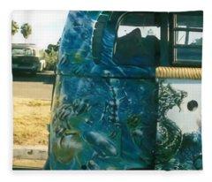 Parked In Rincon Fleece Blanket