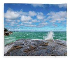 Partly Sunny Fleece Blanket