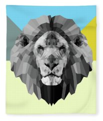 Party Lion Fleece Blanket