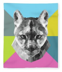 Party Mountain Lion Fleece Blanket