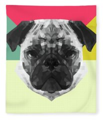 Party Pug Fleece Blanket