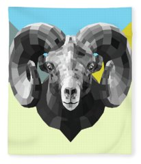 Party Ram Fleece Blanket