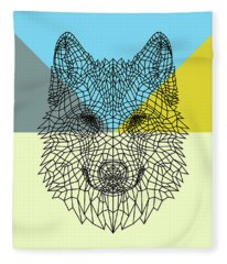 Party Wolf Fleece Blanket