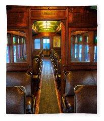 Passenger Train Memories Fleece Blanket