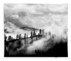 Passing Storm Central Idaho Mountains Fleece Blanket