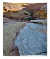 Pastel Canyon In Valley Of Fire State Park Fleece Blanket