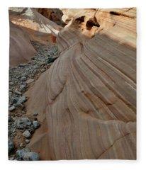 Pastel Canyon Sandstone Waves In Valley Of Fire Fleece Blanket