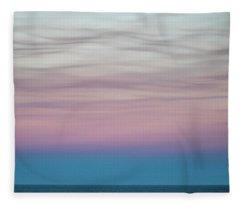 Pastel Clouds Fleece Blanket