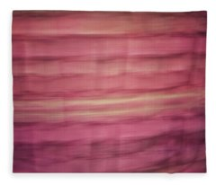 Pastel Lined Abstract Background Of Pinks, Oranges And Yellows Fleece Blanket