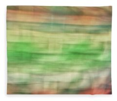 Pastel Lines Abstract Background Of Oranges, Greens And Yellows Fleece Blanket