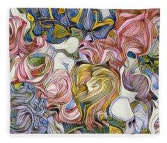 Pastel Mosaic Fleece Blanket