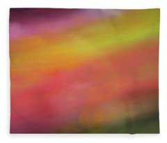 Pastel Soft Blurred Line Background Of Pinks, Oranges, Yellows And Greens Fleece Blanket