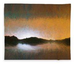Pastel Water Abstract  Fleece Blanket