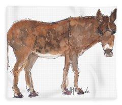 Pasture Boss 2015 Watercolor Painting By Kmcelwaine Fleece Blanket