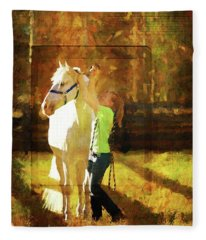 Pasture Time Fleece Blanket