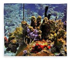 Patch Reef Bluff Fleece Blanket