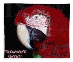 Patchwork Parrot Fleece Blanket