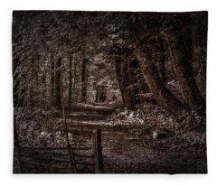Path In Forest #i0 Fleece Blanket