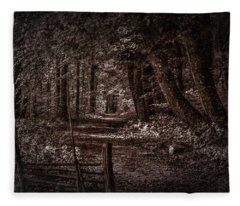 Path In Forest #i0 Fleece Blanket