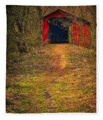 Path To Bridge Fleece Blanket