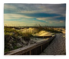 Path To The Beach  Fleece Blanket