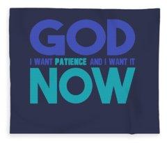 Patience Fleece Blanket
