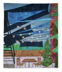 Patio At The Winds Fleece Blanket