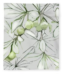 Patio Print Fleece Blanket