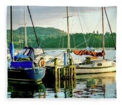 Peace In Lake Windermere Fleece Blanket