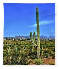 Peace Out Arizona Fleece Blanket