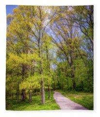 Peaceful Pathway Fleece Blanket