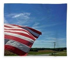 Peaceful Summer Day Fleece Blanket