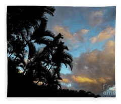 Peach Sunset  Fleece Blanket