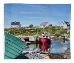 Peggy's Cove, Nova Scotia Fleece Blanket