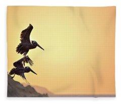 Pelican Down Fleece Blanket