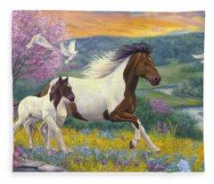 Perfect Spring Day Fleece Blanket