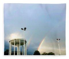 Perry Hall Double Rainbow Fleece Blanket