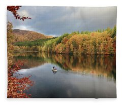 Perthshire Autumn Fleece Blanket