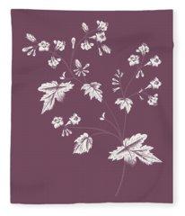 Phacelia Purple Flower Fleece Blanket